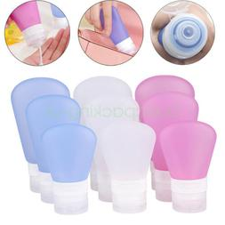 1/2/3oz Portable Airline Travel Shampoo Lotion Silicone Sque