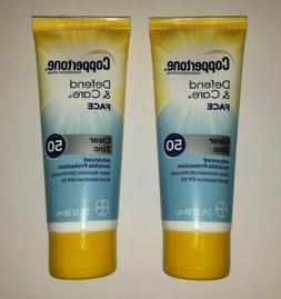 2 Pack - Coppertone Sunscreen Defend & Care Face SPF 50 Clea