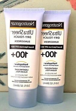 2 x Neutrogena Ultra Sheer Dry Touch Sunscreen SPF 100+ Exp