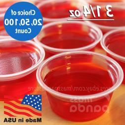 3 1/4 oz Extra Large Jello Jelly Shot Portion Cups w/ Lids O