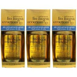 3 Pack OGX Renewing Argan Oil of Morocco Extra Penetrating O