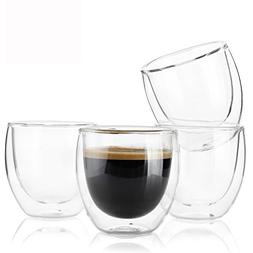 Sweese 4301 Espresso Cups - 4 Ounce , Double-Wall Insulated