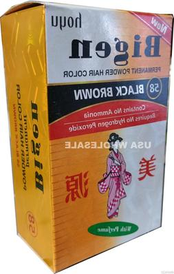 #58 Black Brown Bigen Hair Dye Powder Color No Amonia No Per