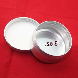 NEW 10 - 3 oz ALUMINUM EMPTY SCREW TOP TIN CAN With LINER SU