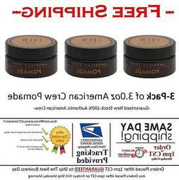 American Crew Pomade 3oz Puck 3pack Bundle Medium Hold High