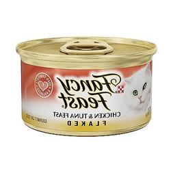 Purina Fancy Feast Flaked Gourmet Wet Cat Food -  3 oz. Can.