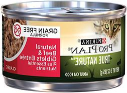 Purina Pro Plan Wet Cat Food, True Nature, Natural Grain Fre