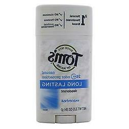 Tom's of Maine Natural Deodorant Stick, Unscented, 2.25 Ounc