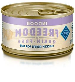 Blue Buffalo Indoor Cat Chicken Entree Wet Food, 3 oz Can, P