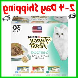 Purina Cat Food Fancy Feast Classic Seafood Variety Pack Can