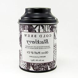 Cold Brew Tea - Blackberry 3oz Tin with Large Wire Mesh Teab