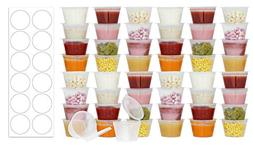 50 Pack BPA-Free Baby Food Freezer Storage Containers Hinged