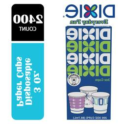 Dixie Everyday Fun 3 Oz Small Disposable Cups  2400 Count