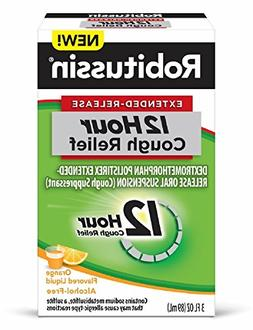 Robitussin Extended-Release 12 Hour Cough Relief Orange Coug