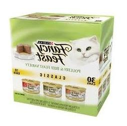 Purina Fancy Feast Cans 3 oz Wet Cat Food, Classic Poultry/T