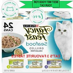 Purina Fancy Feast Grilled Seafood Gourmet Wet Cat Food Vari