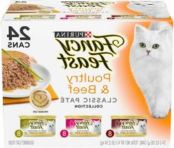 Purina Fancy Feast Poultry & Beef Wet Cat Food Variety Pack