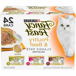 Purina Fancy Feast Poultry & Beef Wet Cat Food Variety Pack,