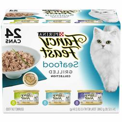Purina Fancy Feast Seafood Gourmet Wet Cat Food Variety Pack