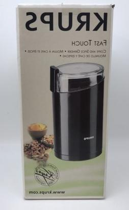 Krups Fast Touch Coffee Spice Nut Grinder Electric 3 Oz. Bla