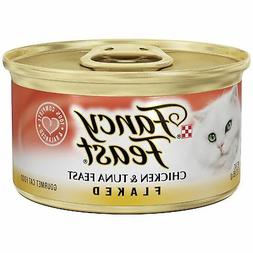 Purina Fancy Feast Flaked Feast Wet Cat Food -  3 oz. Cans C