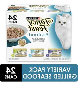 Fancy Feast Gourmet Cat Food, Grilled Seafood Variety Pack,