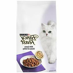Fancy Feast Gourmet Dry Cat Food, With Savory Chicken & Turk