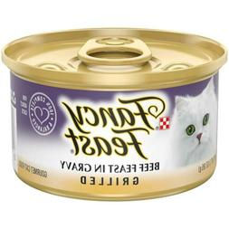 Purina Fancy Feast Grilled in Gravy Canned Wet  3 oz. Cans,