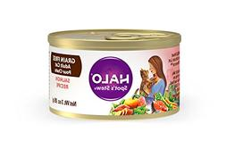 Halo Grain Free Natural Wet Cat Food, Salmon Recipe, 3-Ounce