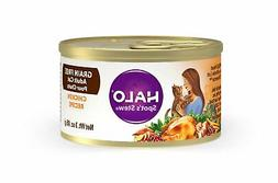 Halo Grain Free Natural Wet Cat Food, Chicken Recipe, 3-Ounc