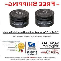 American Crew Heavy Hold Pomade 3oz Puck 2pack Bundle High H