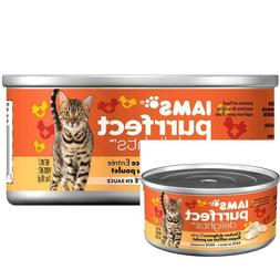 Iams Purrfect Delights Pate Adult Wet Cat Food Chicken 3 oz