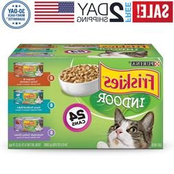 Purina Friskies Indoor Wet Cat Food Variety Pack; Indoor -