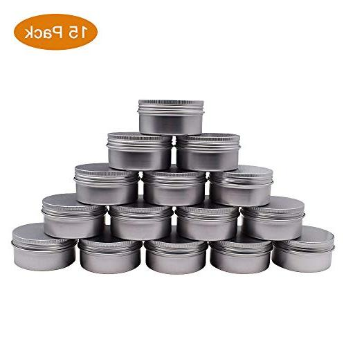 15 packs round aluminum tin