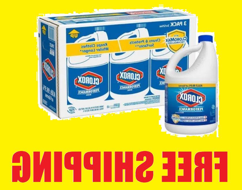 3 Bottles of 121 oz Clorox Performance Bleach with CloroMax