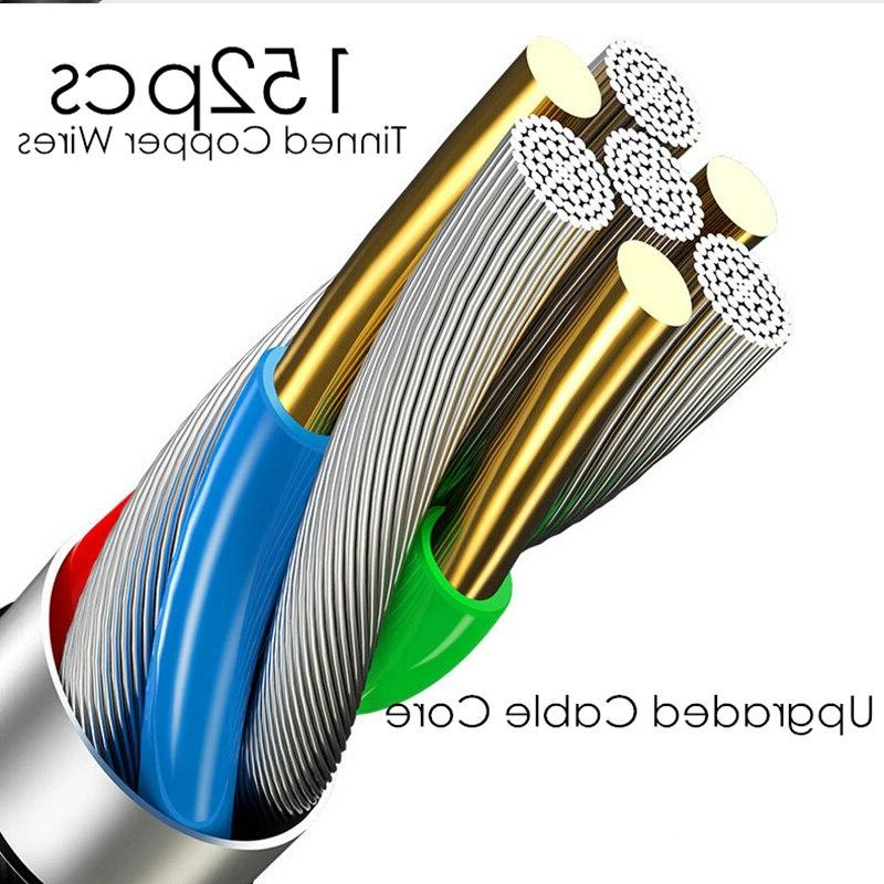 5A USB Cable <font><b>3</b></font> in Fast Fabric Micro Charger Cable Black Gold Cord P20 Pro