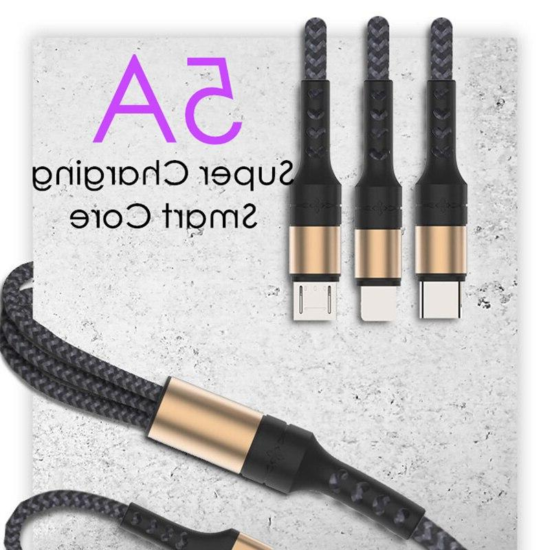 5A Cable in Fabric Braide Type Black Gold for Huawei 20 P20 Pro