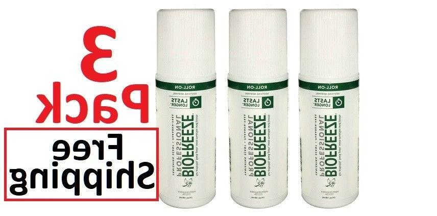 Biofreeze Professional 3 oz Roll On - 3 Pack - FREE SHIPPING