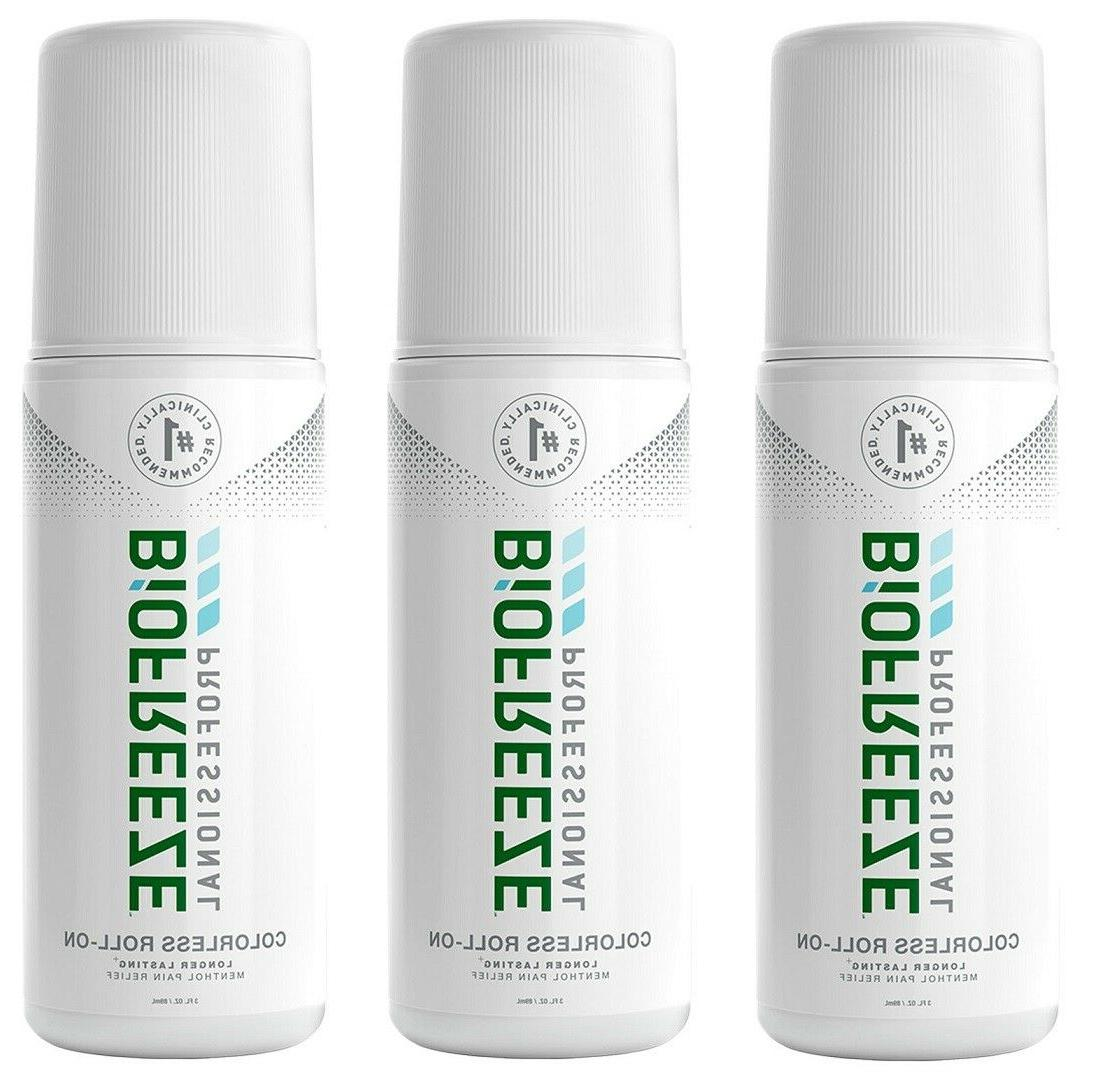 Brand New Biofreeze Gel 3 Oz. ROLL-ON  Cooling Pain Reliever