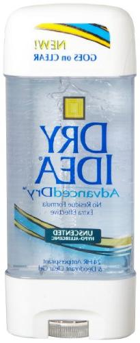 Dial 1327463 Dry Idea Unscented Clear Gel Anti-Perspirant De