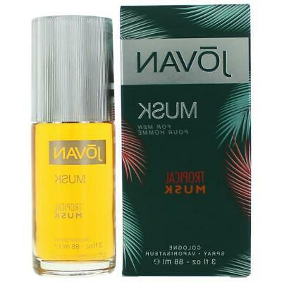 Jovan Tropical Musk for Men by Coty Cologne Spray 3.0 oz - N