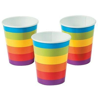 Rainbow Party Paper Cups  Party Supplies )