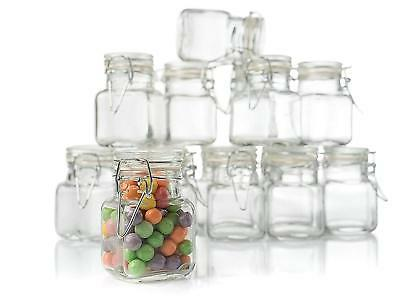Stock Your Home 3 Oz Airtight Glass Jar with Leak Proof Rubb
