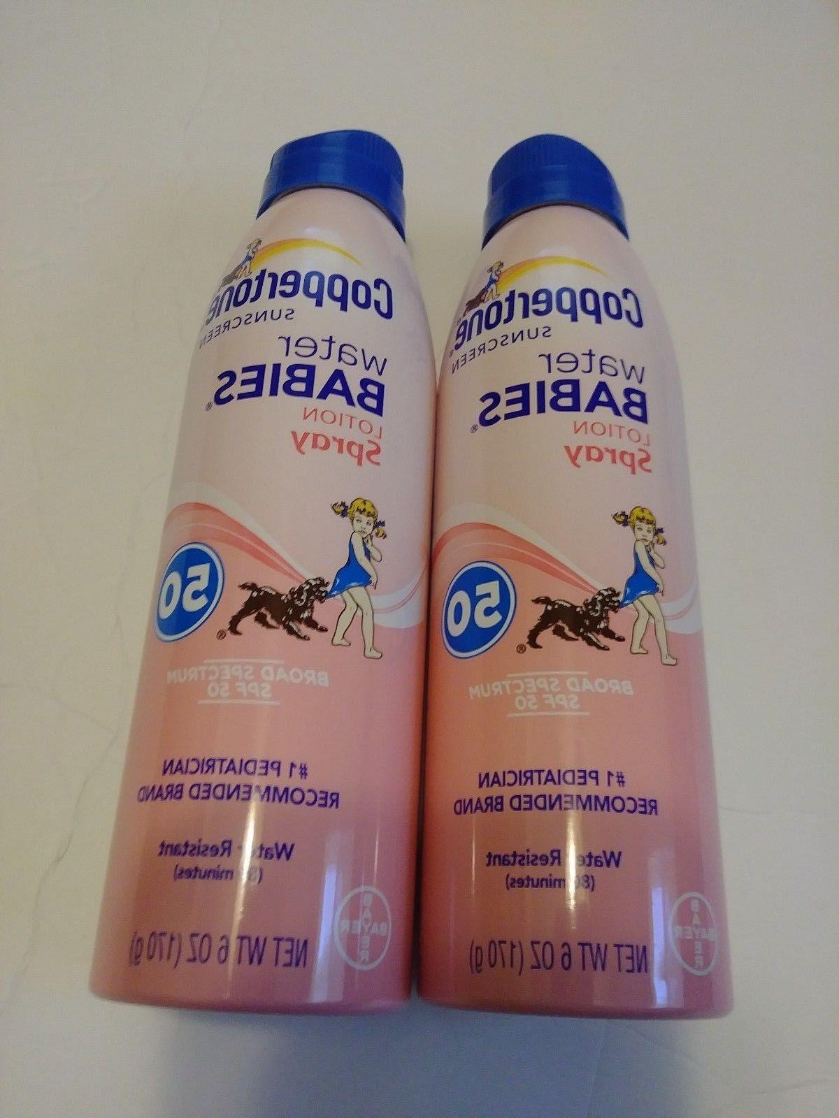 TWO PACK Babies Lotion SPF 50 6 Oz Ea EXP