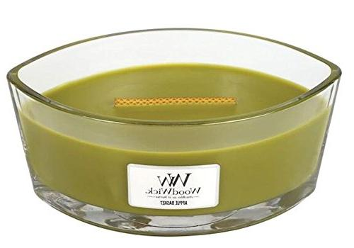 WoodWick APPLE BASKET HearthWick Flame Scented Candle by