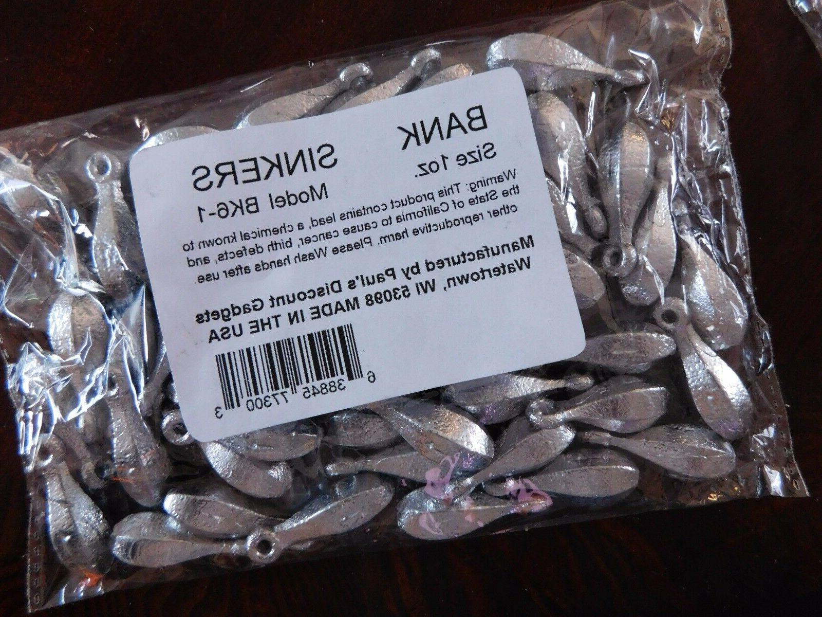 bulk fishing weights bank bullet fishing sinkers