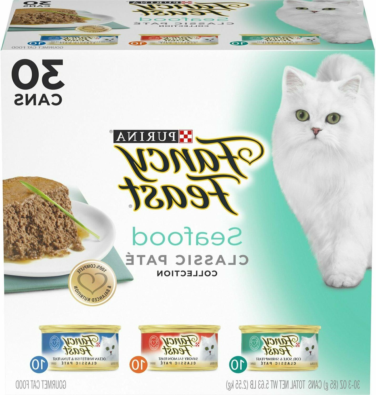 Purina Cat Feast Classic Seafood Pack Wet 3oz 30/24/12