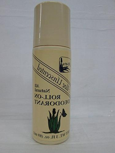 deoderant aloe based unscented