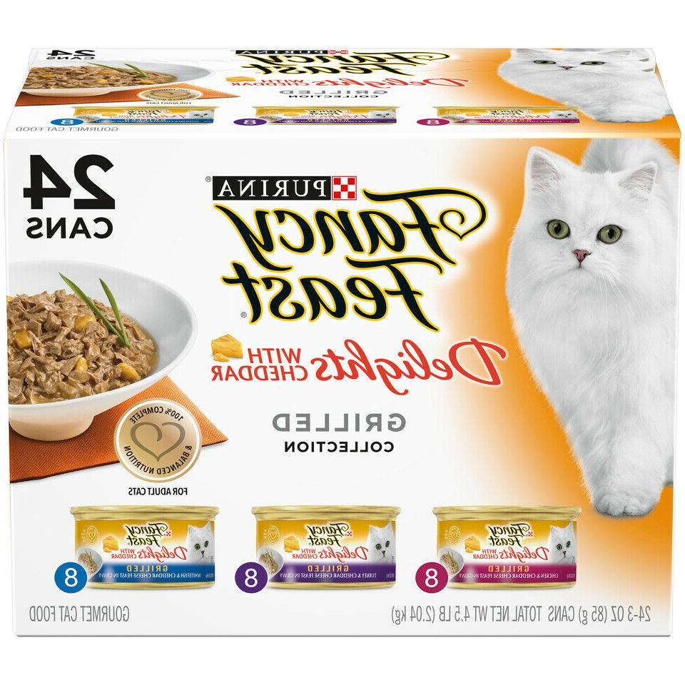 fancy feast delights with cheddar wet cat
