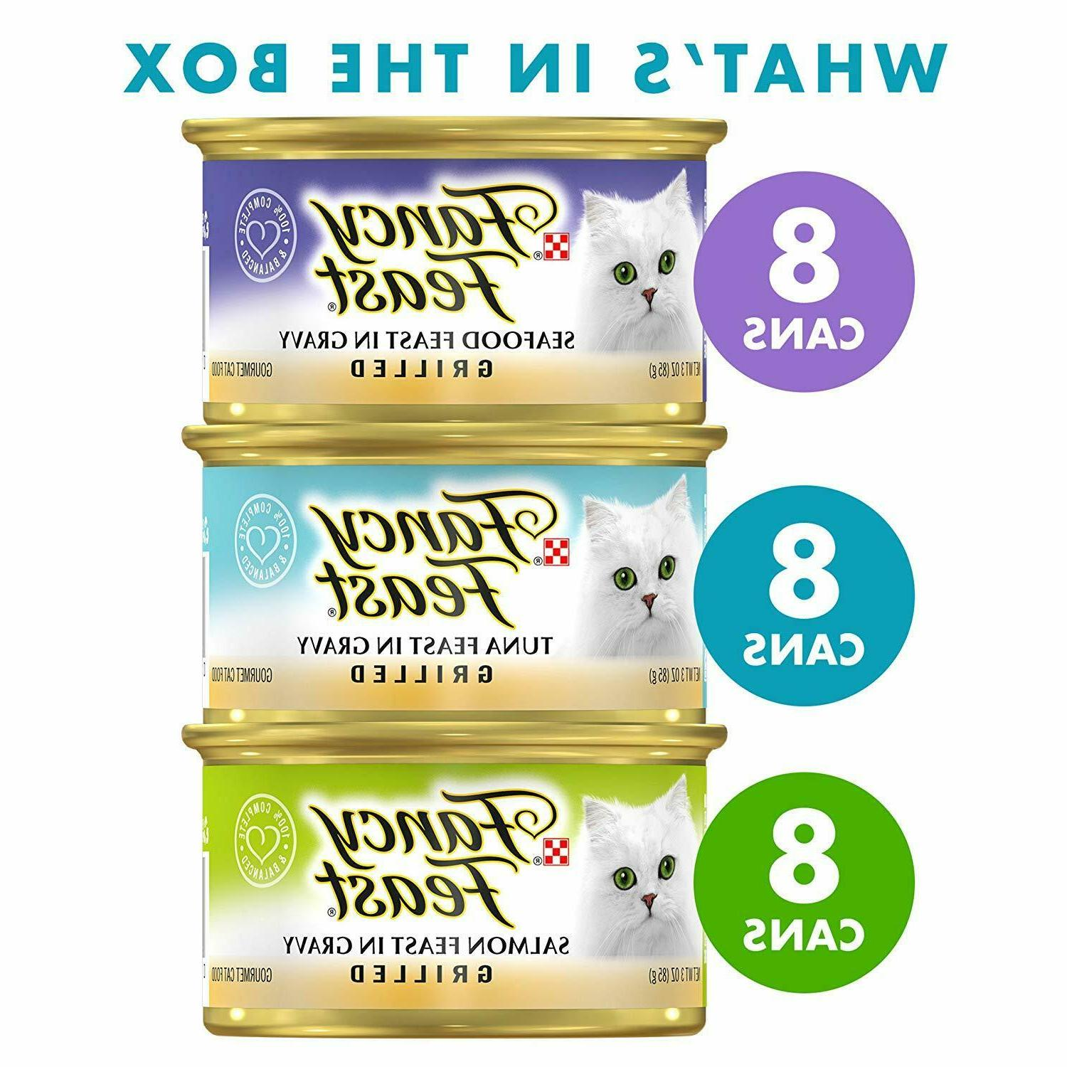 Purina Fancy Seafood Wet Food Pack 3 oz.